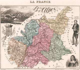 B. ses Alpes. La France et ses colonies, Atlas Illustre. Alexandre Vuillemin.