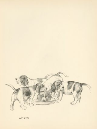 Beagle Puppies. Reverse: 'Chorister' Singing. Just Dogs: Sketches in Pen & Pencil. Kathleen...