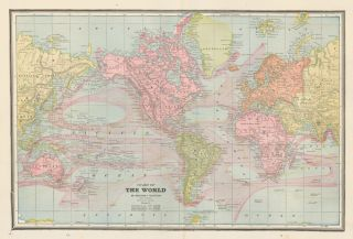 Chart of the World. Cram's Unrivaled Atlas of the World. George Franklin Cram