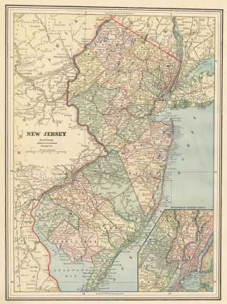 New Jersey. Cram's Unrivaled Atlas of the World. George Franklin Cram