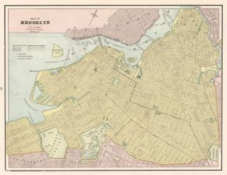 Brooklyn. Cram's Unrivaled Atlas of the World. George Franklin Cram.