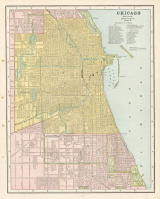Chicago. Cram's Unrivaled Atlas of the World. George Franklin Cram.