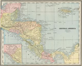 Central America. Cram's Unrivaled Atlas of the World. George Franklin Cram