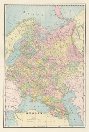 Russia. Cram's Unrivaled Atlas of the World. George Franklin Cram