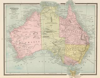 Australia. Cram's Unrivaled Atlas of the World. George Franklin Cram