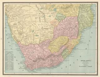 South Africa. Cram's Unrivaled Atlas of the World. George Franklin Cram