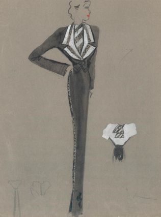 Black and White Spotted Blazer. Fashion Illustrations. Charlotte Revyl