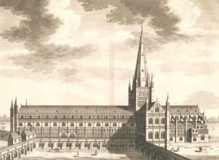 The Cathedral Church of Norwich. Britannia Illustrata. Leonard Knyff