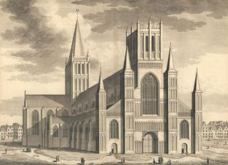 The Cathedral Church of Hereford. Britannia Illustrata. Leonard Knyff