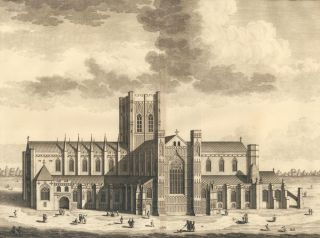 The Cathedral Church of Chester. Britannia Illustrata. Leonard Knyff