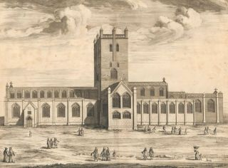 The Cathedral Church of St. Davids. Britannia Illustrata. Leonard Knyff