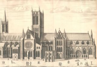 The South Prospect of the Cathedral Church of St. Mary Lincoln. James Collins