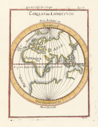 Circles of longitude. Description de l'Univers. Allain Manesson Mallet