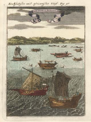 Boats of Asia and Africa. Description de l'Univers. Allain Manesson Mallet