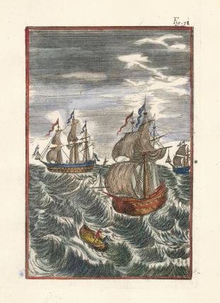Three ships. Description de l'Univers. Allain Manesson Mallet
