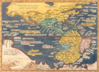 Pl. XXXIIII. Descrittione dell'America o dell'India occidentale. Geografia cioe Descrittione...