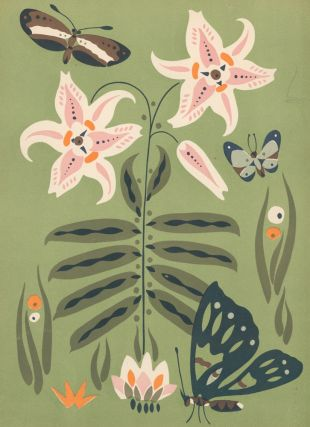 No. 18, Butterfly and Flowers. Nakagawa Zhuanshu. Anonymous