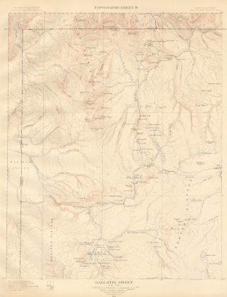 Gallatin Sheet. Atlas to Accompany Monograph XXXII on the Geology of the Yellowstone National Park. Arnold Hague.