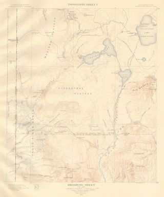 Shoshone Sheet. Atlas to Accompany Monograph XXXII on the Geology of the Yellowstone National...