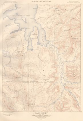 Lake Sheet. Atlas to Accompany Monograph XXXII on the Geology of the Yellowstone National Park....