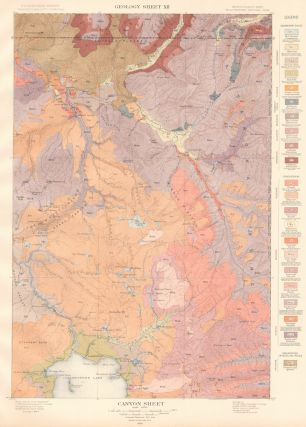 Canyon Sheet. Atlas to Accompany Monograph XXXII on the Geology of the Yellowstone National Park. Arnold Hague.