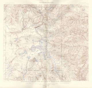 Yellowstone National Park. Atlas to Accompany Monograph XXXII on the Geology of the Yellowstone...