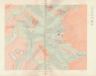 Firehole Geyser Basin. Atlas to Accompany Monograph XXXII on the Geology of the Yellowstone...