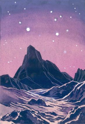 Mountain Landscape. Science Fiction Imagery and Futuristic Landscapes. French School