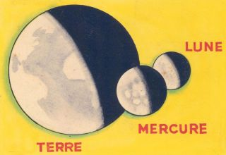 Terre, Mercure, Lune. Science Fiction Imagery and Futuristic Landscapes. French School