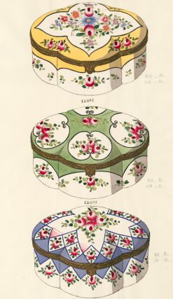 06577. Jewelry Boxes. Porcelain Designs. Gabriel Fourmaintraux Porcelain Company.