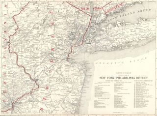 New York - Philadelphia District. Commercial Atlas of America. Rand McNally, Company