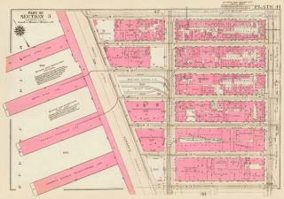 Section 3: Plate 41. Land Book of the Borough of Manhattan, City of New York. Bromley, GW...