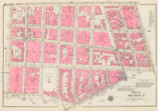 Section 2: Plate 34. Land Book of the Borough of Manhattan, City of New York. Bromley, GW...