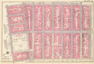 Section 2: Plate 25. Land Book of the Borough of Manhattan, City of New York. Bromley, GW...