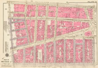 Section 2: Plate 23. Land Book of the Borough of Manhattan, City of New York. Bromley, GW...