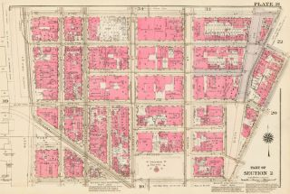 Section 2: Plate 21. Land Book of the Borough of Manhattan, City of New York. Bromley, GW...