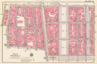 Section 2: Plate 19. Land Book of the Borough of Manhattan, City of New York. Bromley, GW...