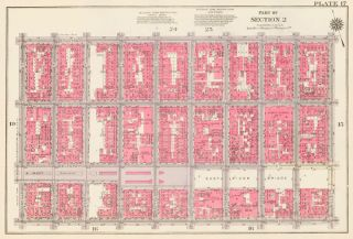Section 2: Plate 17. Land Book of the Borough of Manhattan, City of New York. Bromley, GW...
