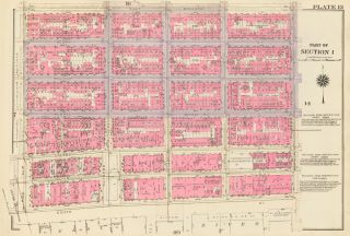 Section 1: Plate 13. Land Book of the Borough of Manhattan, City of New York. Bromley, GW...