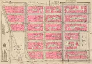 Section 3: Plate 44. Land Book of the Borough of Manhattan, City of New York. Bromley, GW...