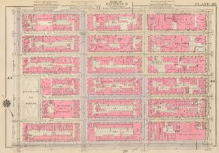 Section 3: Plate 45. Land Book of the Borough of Manhattan, City of New York. Bromley, GW...