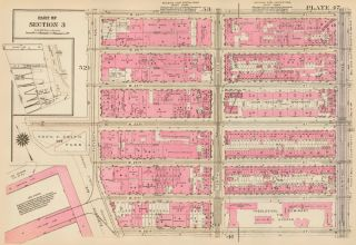 Section 3: Plate 47. Land Book of the Borough of Manhattan, City of New York. Bromley, GW...