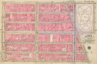 Section 3: Plate 49. Land Book of the Borough of Manhattan, City of New York. Bromley, GW...