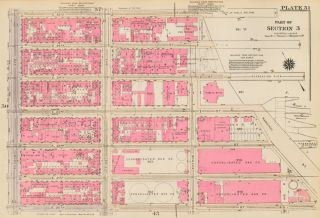 Section 3: Plate 51. Land Book of the Borough of Manhattan, City of New York. Bromley, GW...