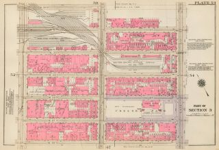 Section 3: Plate 53. Land Book of the Borough of Manhattan, City of New York. Bromley, GW...