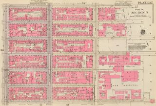 Section 3: Plate 57. Land Book of the Borough of Manhattan, City of New York. Bromley, GW...