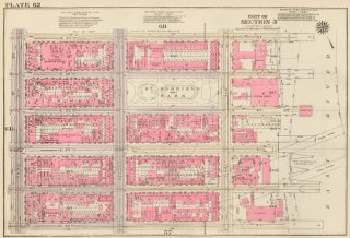 Section 3: Plate 62. Land Book of the Borough of Manhattan, City of New York. Bromley, GW...