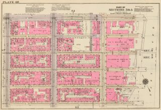 Section 3: Plate 68. Land Book of the Borough of Manhattan, City of New York. Bromley, GW...