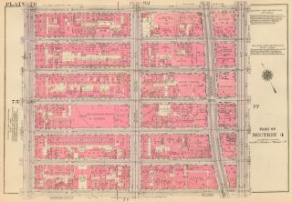 Section 4: Plate 76. Land Book of the Borough of Manhattan, City of New York. Bromley, GW...