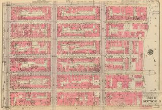 Section 5: Plate 79. Land Book of the Borough of Manhattan, City of New York. Bromley, GW...